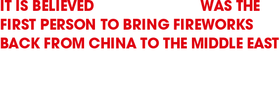 it is believed marco polo was the first person to bring fireworks back from china to the middle east where european crusaders then brought them to england
